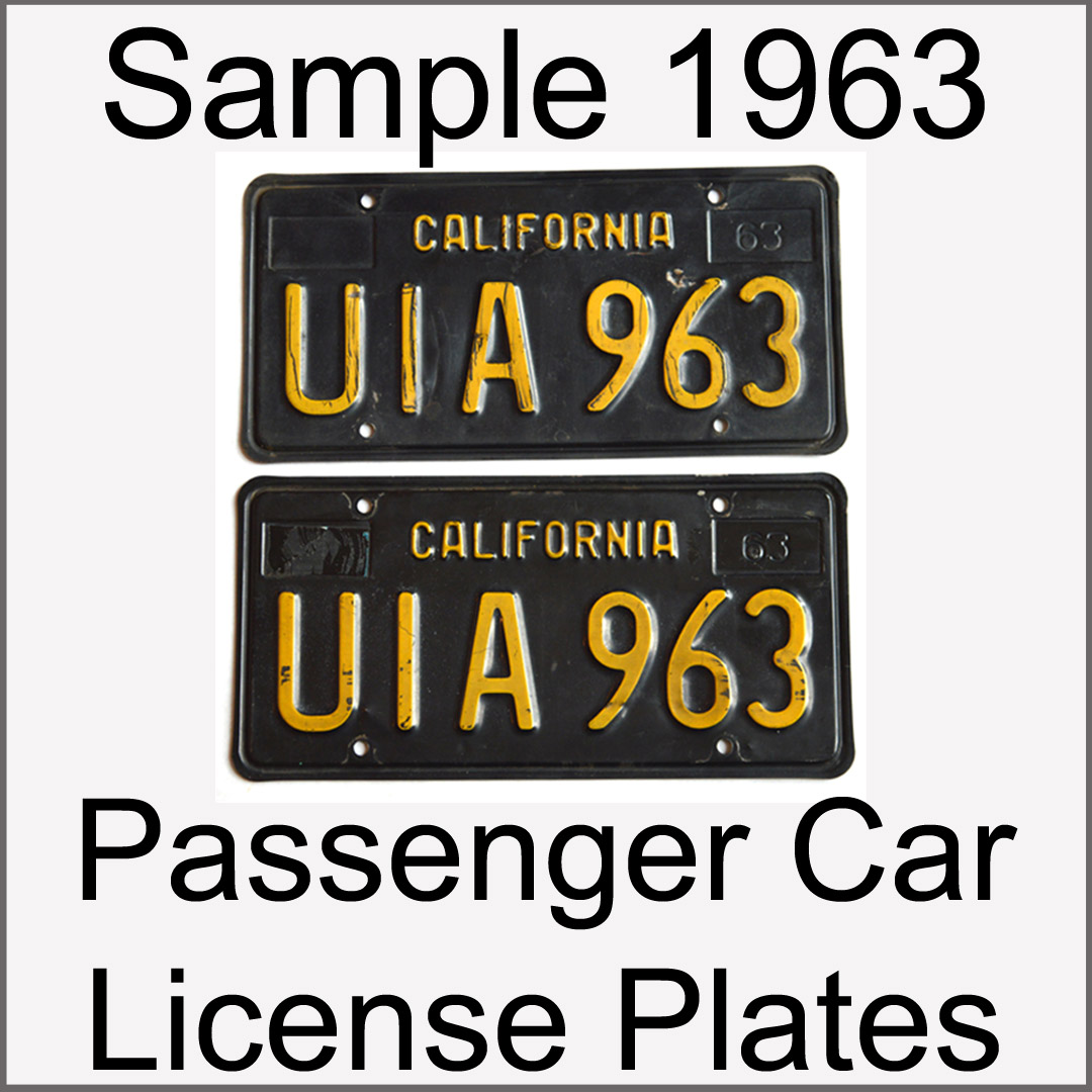 California YOM Info for 1963 1964 1965 1966 1967 1968 1969