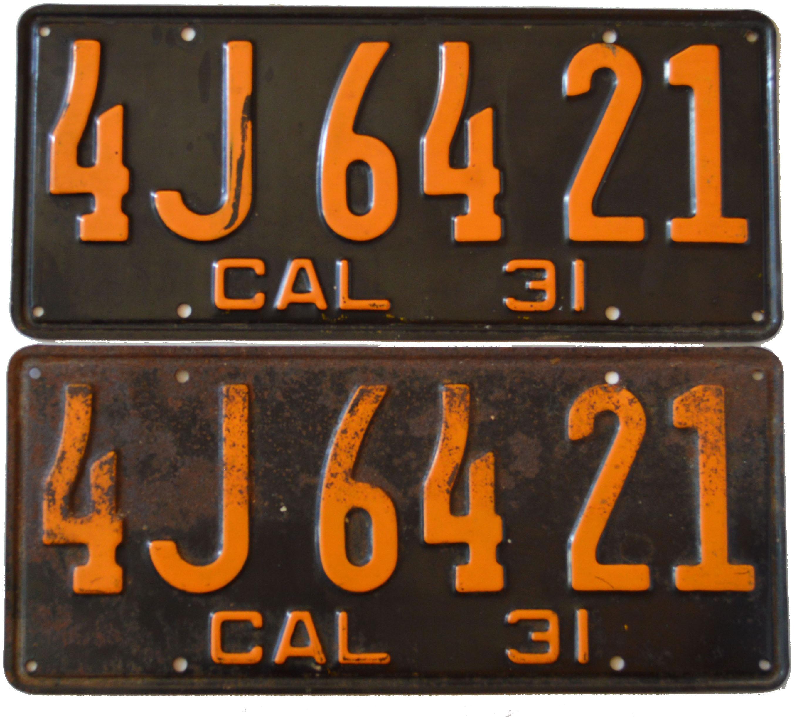 California YOM Info for 1929 1930 1931 1932 1933 1934 1935 1936 1937 ...