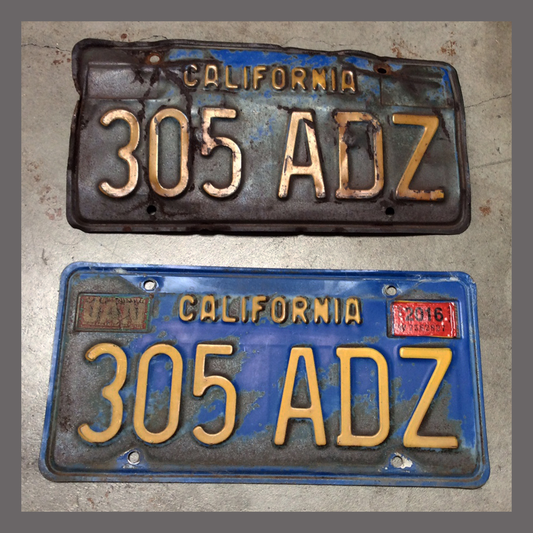 Old Plate Guy License Plate Restoration Services -- California YOM ...
